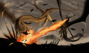 Contest Black-wing: Dragons' Terror by Ucaliptic
