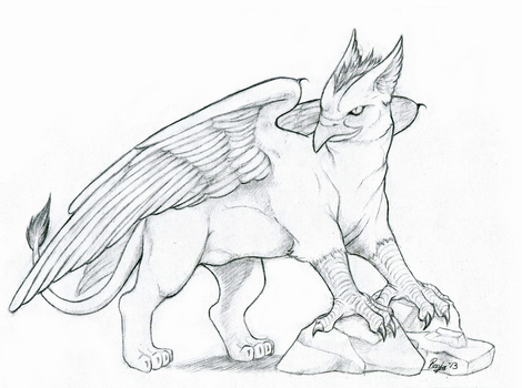 Mean gryphon by QuicksilverCat