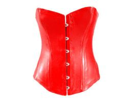 Red Victorian corset by Me-Se