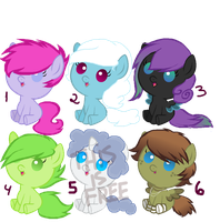 Foal Pony Adoptables - OPEN by 9-ToyBonnie