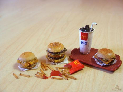 McDonald's inspired miniature food by Tristatin