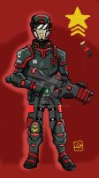 shock trooper 3.0 colored by sharksang