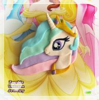 Princess Celestia 2 in 1 brooch and pendant by Galadriel89