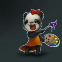 Panda-painter by nightgrowler