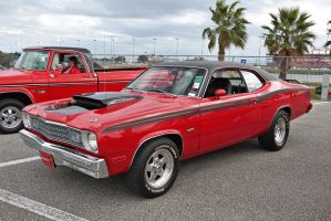 74' Plymouth Duster by OpticaLLightspeed