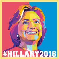 Hillary Clinton Campaign Poster 2016 by AdamKhabibi