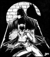 Batman and Batgirl Fanart by Zuleta