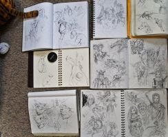 Sketchbooks by jgabriele