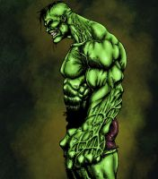 Incredible Hulk Colored by likwidlead