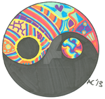 Pyschedelic Yin Yang - Custom Art - Original SOLD by LiquidCandyRainbow