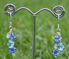 Swarovski Earrings: Blue by Bria-Silivren