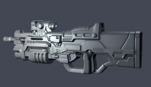 Assault rifle by Roomper
