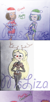 Christmas requests sketch dump by MsLiza