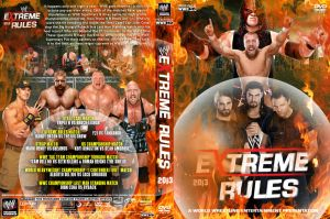 WWE Extreme Rules 2013 DVD Cover V1 by Chirantha