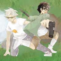 Homestuck : Jake and Dirk Finished by Chocef