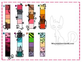 Little Kitty Pallet Adopts by WolvesDestinyBlood