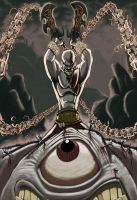 Kratos the god of opticians by Mattyred
