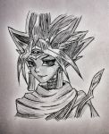 Pharaoh Atem from Yu-Gi-Oh! by hollyvalance