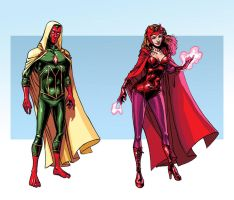 Vision n Scarlet Witch by iliaskrzs