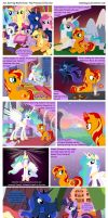 Sun Setting Misfortune MLP The Princess + the Sun by teammagix