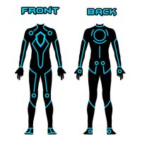 My Tron suit design by Xelku9