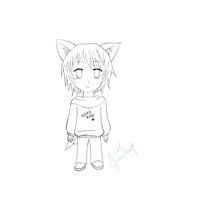 Neko boy uncolored. by KielGreenleaf