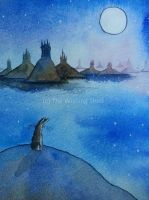 Castles far away - postcard art by thewishingshed