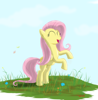 Fluttershy (New day - happy day) by Eriada1992