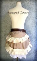 Beige and White Bustle by ByKato