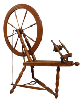antique spinning wheel PNG by subliminal2012