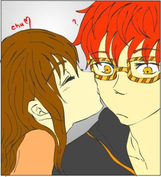 Saeyoung x MC kiss by paulineterbio97