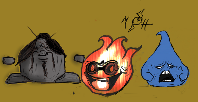 redrawing some of my old monsters by F3ras