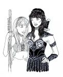 Xena and Gabrielle by Momagie