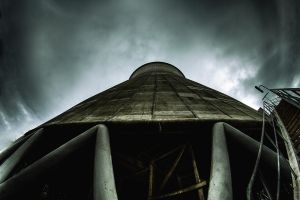 Red Turbine cooling tower 02 by Bestarns