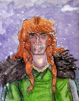 Loki in Snow by Dragonnerd445