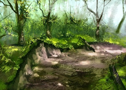 Forest Path by CrysDF