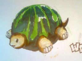 omg watermelon turtle??? by pandamangaugau