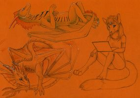 Sketch trades for FN and DA2 by Suane