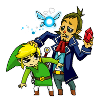 Toon Link and Linebeck by Tilita