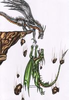 Dragon the end colore by black-Khisanth