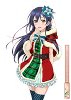 #192' Sonoda Umi (Love Live! Card) SR - Render by azizkeybackspace