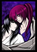 Kenshin and Tomoe-for Ketty by VegaSailor