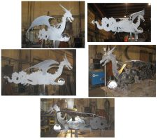 Steel Dragon WeatherVane by BROKENHILL