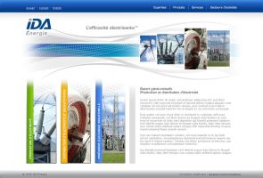 IDA Energie web site by neverdying