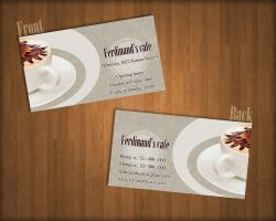 Ferdinand's coffee business card by KungfuHamster