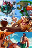 league of legends pool party team by MissF0rtune