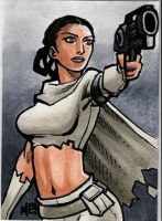 Padme Sketch Card by MasonEasley