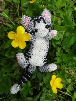 Beaded kitten by Valerianne2363