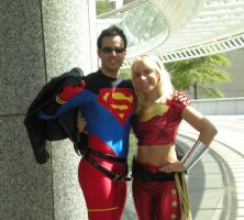 DC Comics: Conner and Cassie by Ravenspiritmage