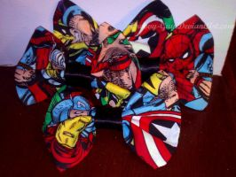 Avengers Bows and Bow Ties by Groovy-Guy